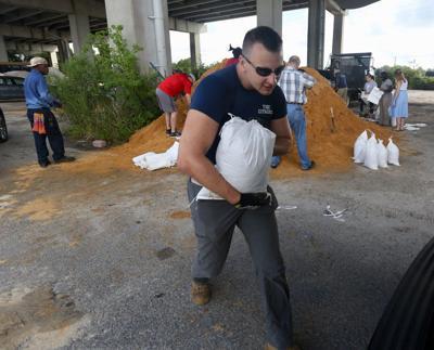 Hurricane Florence sand bags