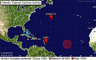 Hurricane Earl barrels into eastern Caribbean