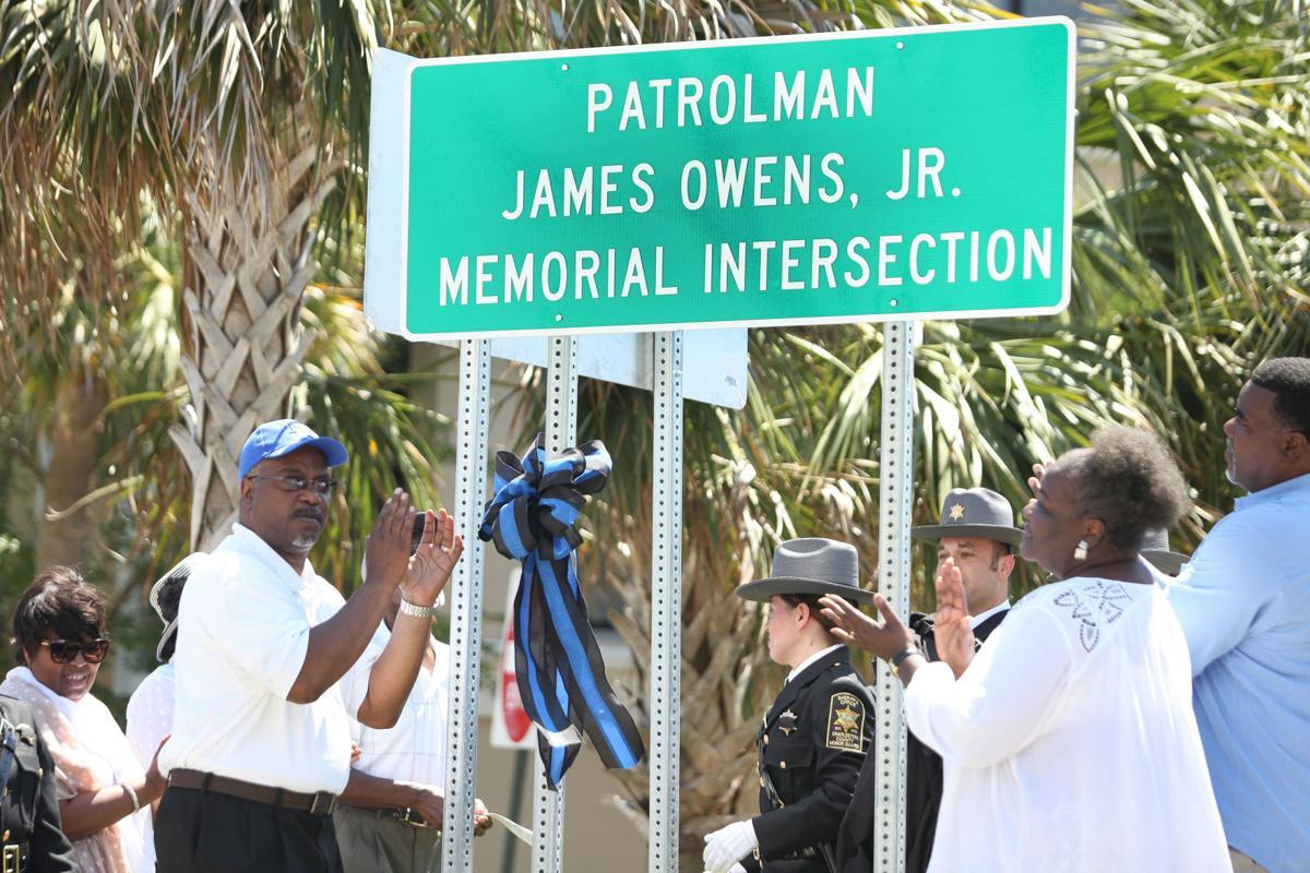 James Owens Jr. sign