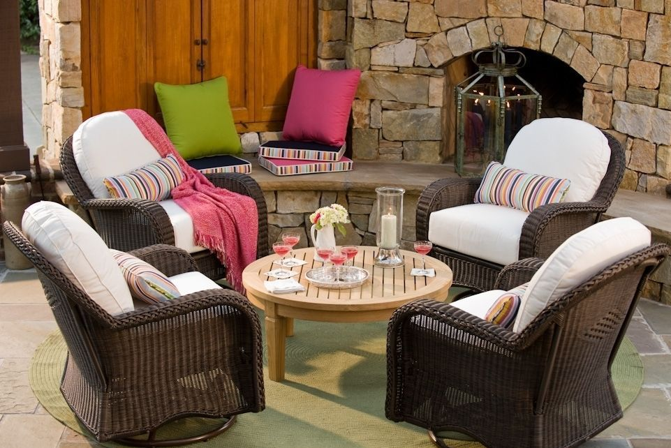 Use long-life fabrics to add style to outdoor spaces