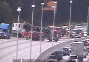 DOT: I-26 east blocked at Aviation because of vehicle fire