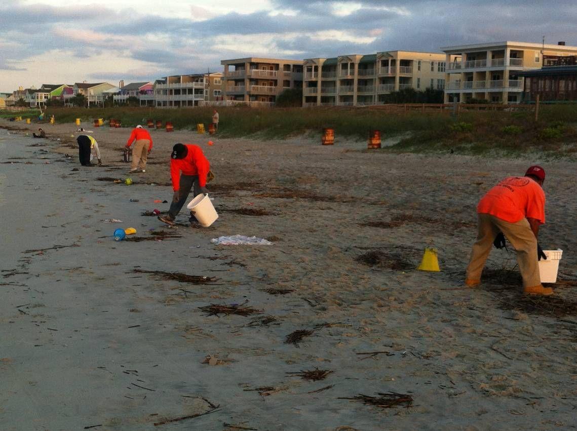 Shame on slobs who trash the beach