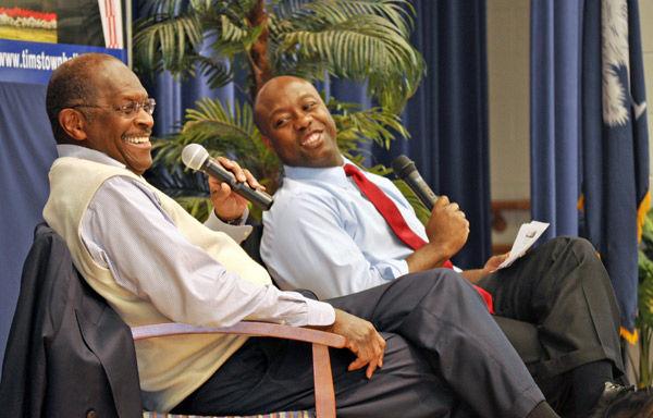 Herman Cain promotes economic plan