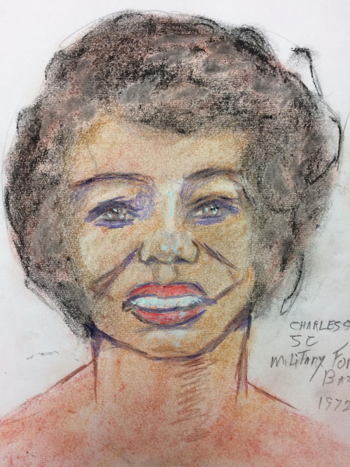 Sketch of serial killer Samuel Little's Charleston victim