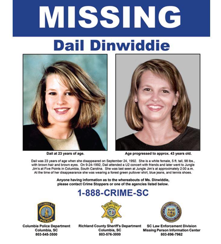 Dail Dinwiddie missing poster