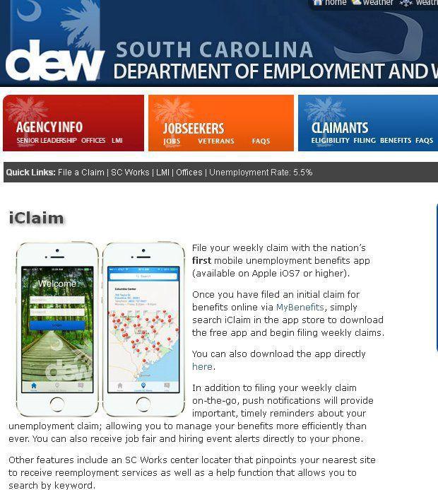 S.C. unemployed can seek benefits via smartphones