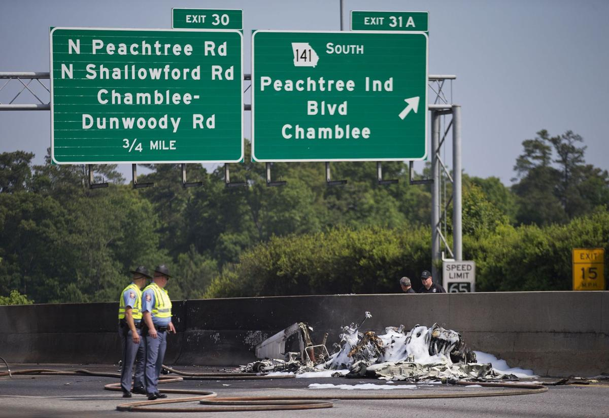 Small plane crashes into busy Atlanta interstate; 4 killed