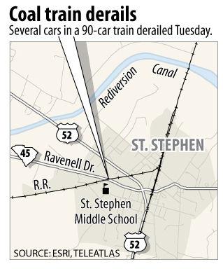 Train derails in St. Stephen
