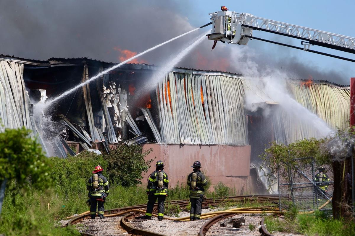 North Charleston fire chief: Crews likely to battle warehouse fire 'deep into night'