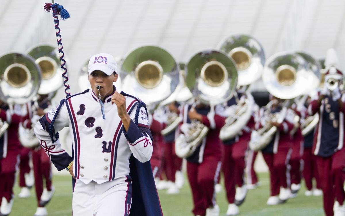 It's pep in their step Palmetto Invitational shows off college, high school bands