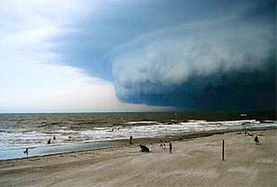 Storm spawns funnel clouds, zaps power