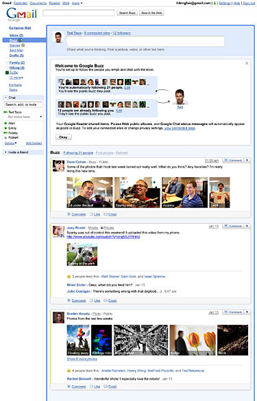 Buzz on Google might spur Facebook face-off