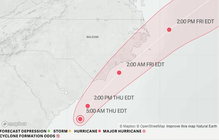 Hurricane Dorian closes in: Heavy rains, flooding, power