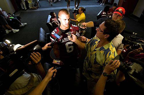 Spurrier expresses confidence in Gamecocks' starting quarterback