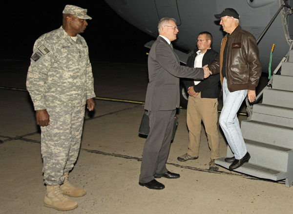Biden in Iraq to thank troops, begin dialogue