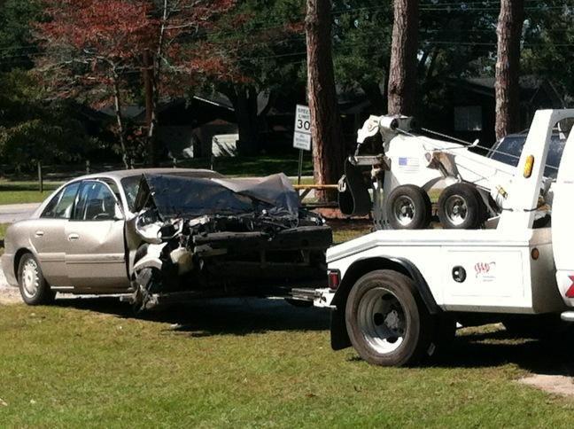 Man hospitalized after crashing car into North Charleston home