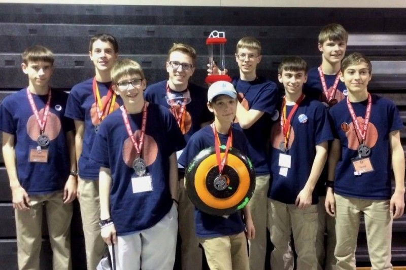 Homeschoolers' robotics team takes home state gold