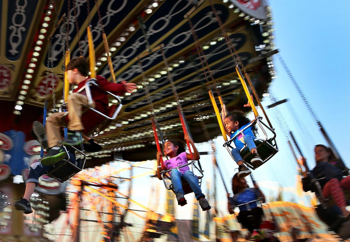 Coastal Carolina Fair - kids in swings