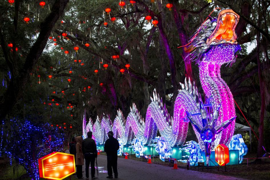 Charleston's Magnolia Plantation partners with Chinese lantern group for special display