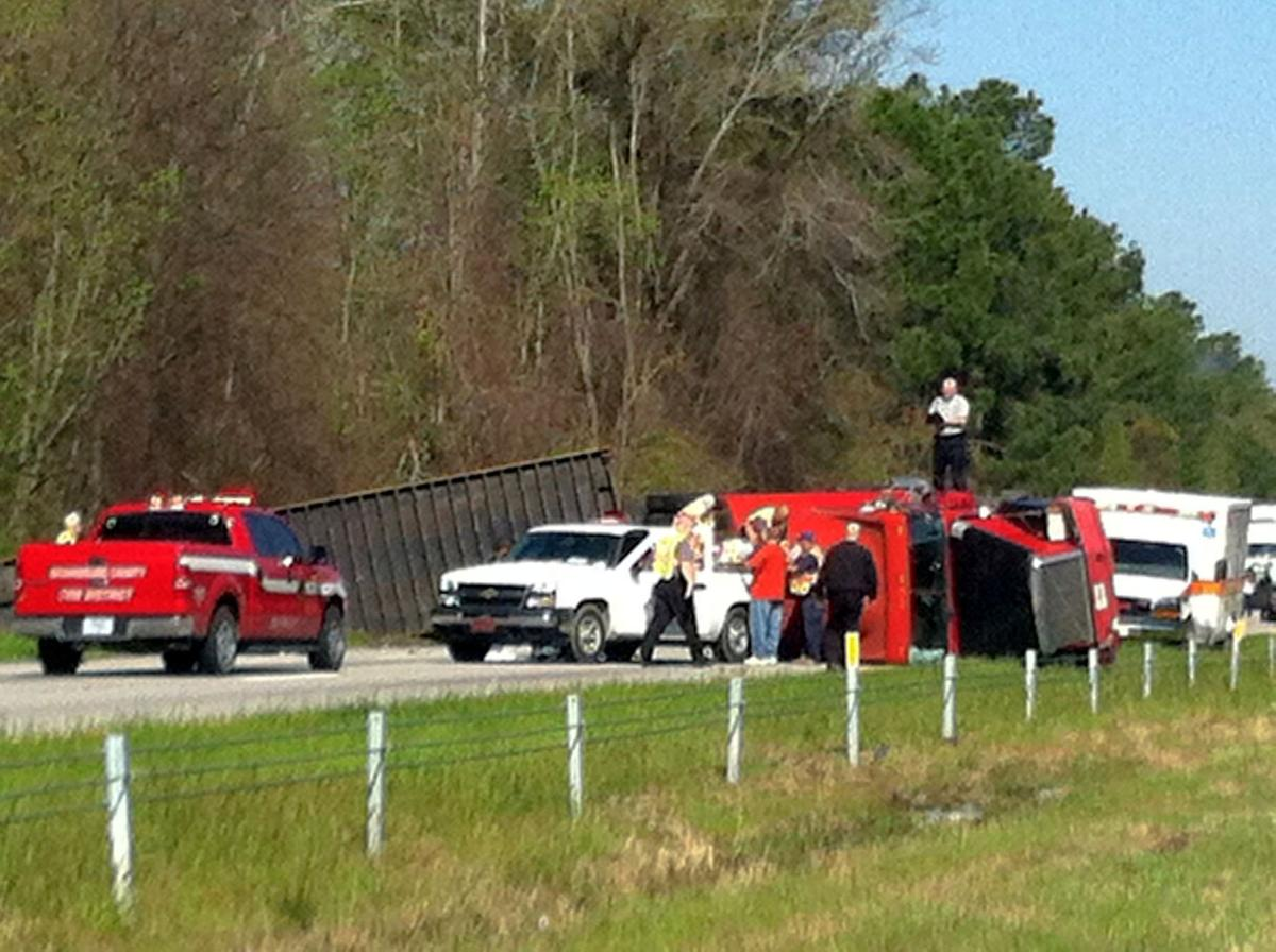 Overturned tractor trailer blocking traffic on I-26   Archives ...