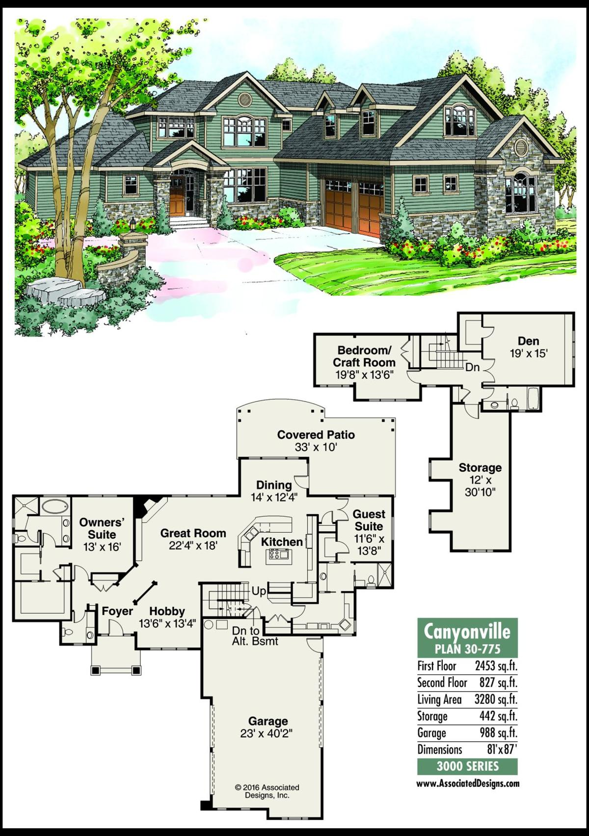 This week's house plan Canyonville 30-775