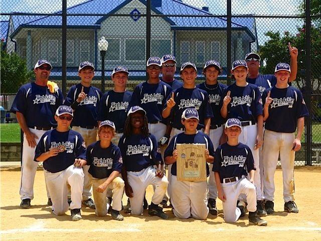 West Ashley 12U baseball team captures state title