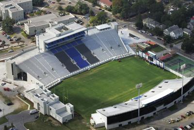 Johnson Hagood Stadium aerial shot