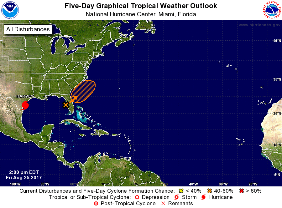 Tracking Heavy Showers, Tropical Disturbance Off Coast