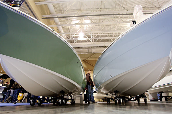 Vendors see high traffic: People seem to be loosening purse strings as boat show comes to close