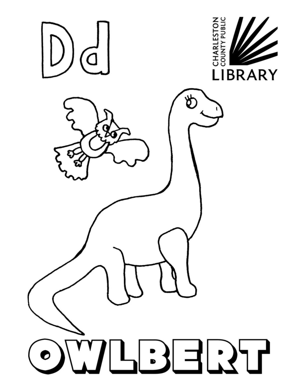 Owlbert -D coloring page CCPL