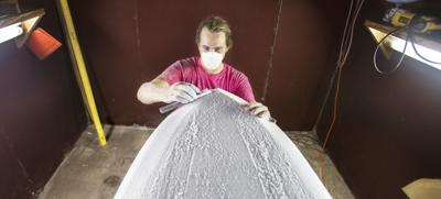 Taking shape: For Charleston's surfboard builders, the dirty, solitary work is worth it