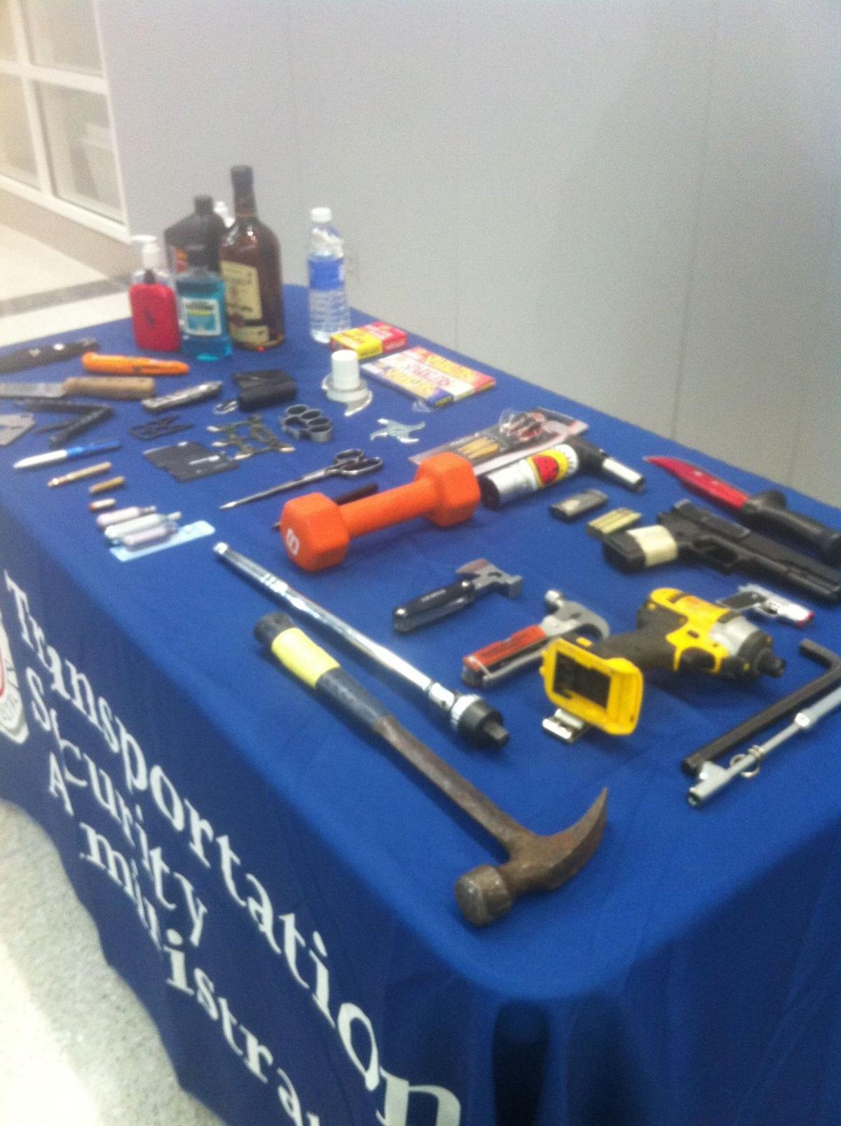 TSA to display prohibited items found on local airport passengers