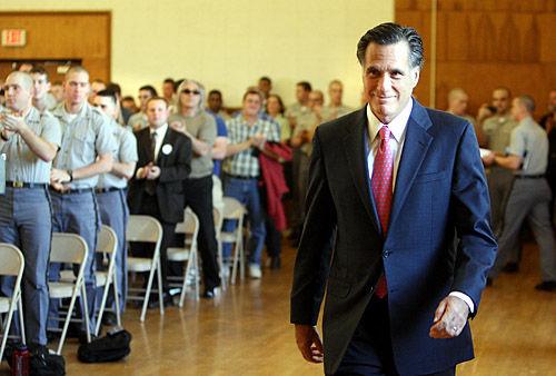 Romney visits Citadel