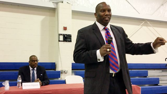 Incumbent Dan Johnson and lawyer Byron Gipson bid for support in primary