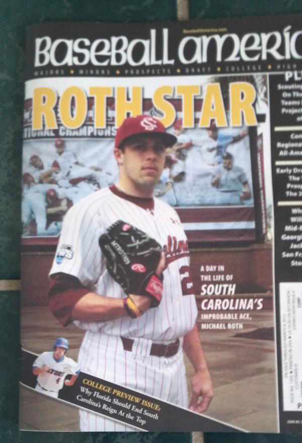 USC's Roth makes Baseball America cover
