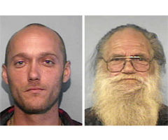 Dad, son charged as team
