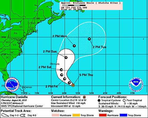 Danielle expected to become a major hurricane