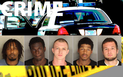 Five men charged in string of robberies in Goose Creek area