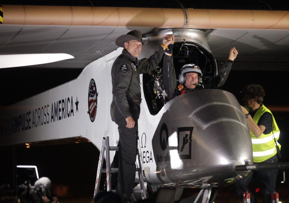 Solar plane lands after 1st leg of major trip