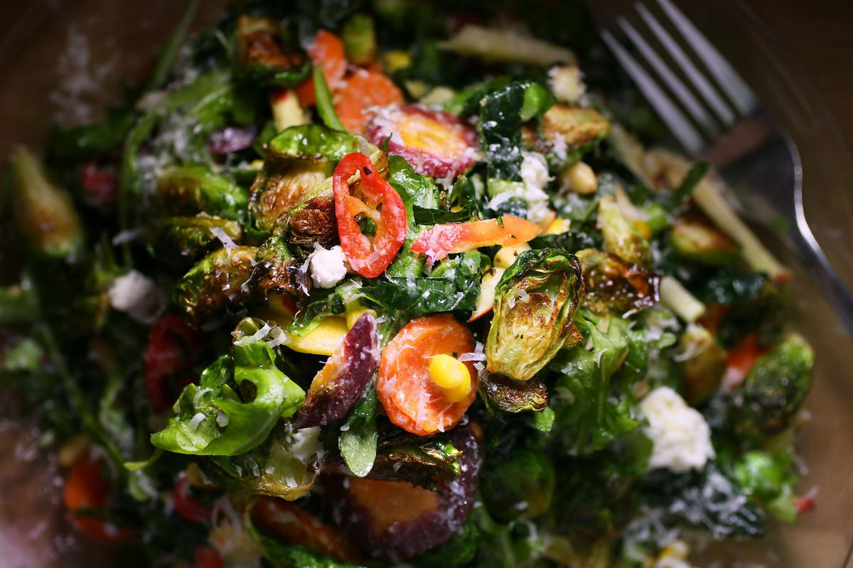Cookbook: Brussels sprouts salad from EVO Pizza