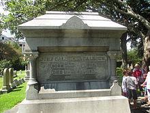 John C. Calhoun's grave at St. Philip's Church in Charleston