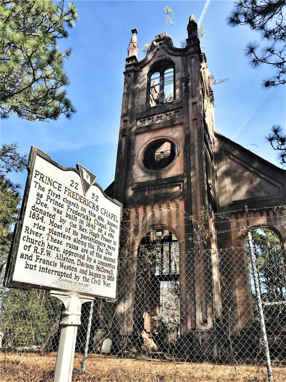 Prince Frederick Church with marker