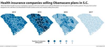 S.C. map Obama care