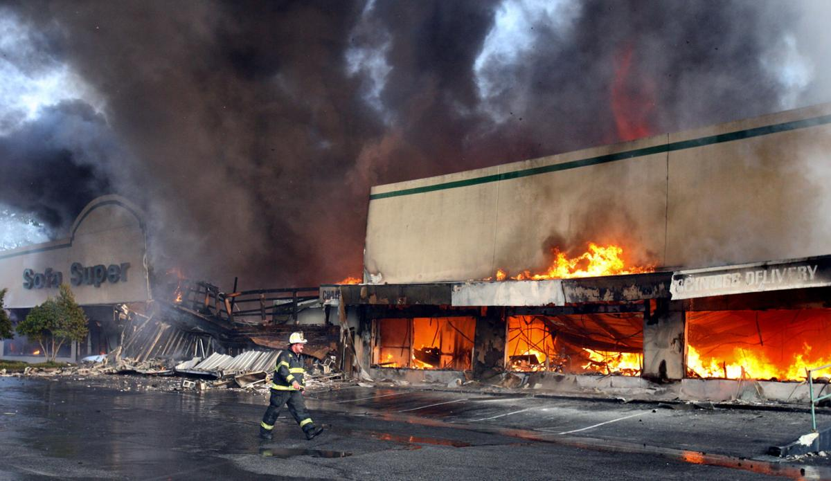 Charleston Furniture Store Fire Video