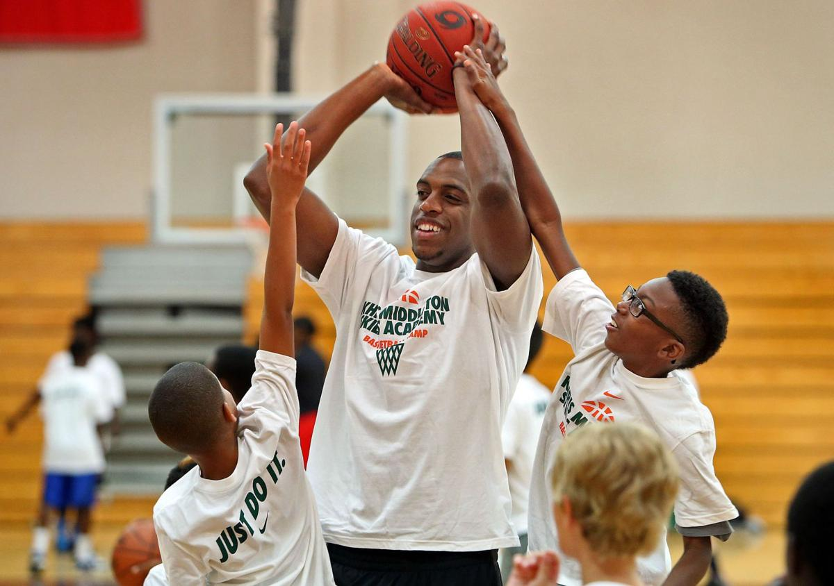 Charleston's Khris Middleton about to cash in on breakout season Rising NBA star holding basketball camp at Porter-Gaud