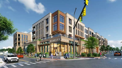 West End mixed-use redevelopment proposal site rendering