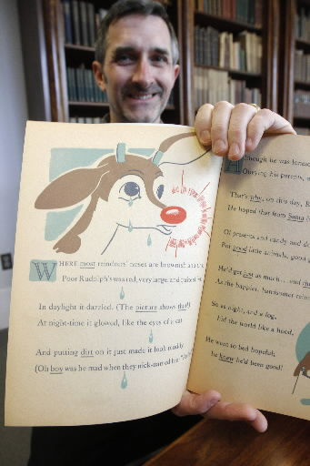 Scrapbook tells how Rudolph went down in history