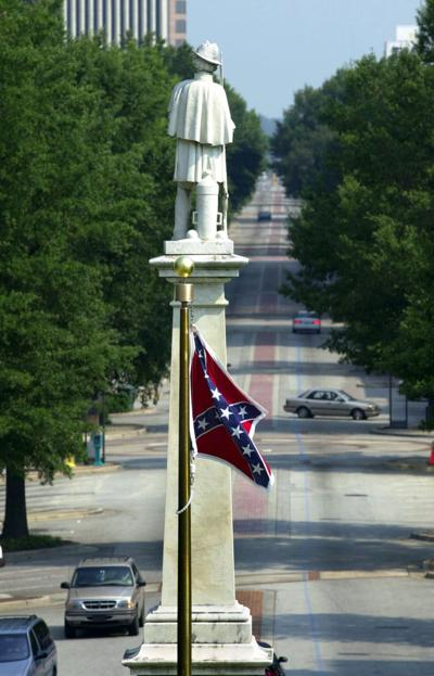 Statehouse Confederate flag flying at full height causes stir on Internet