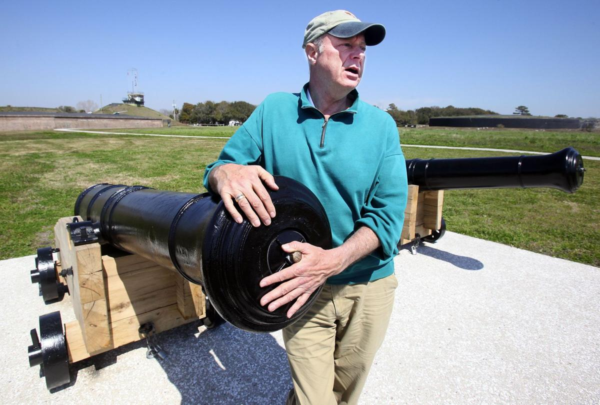 Restored cannons back at Fort Moultrie