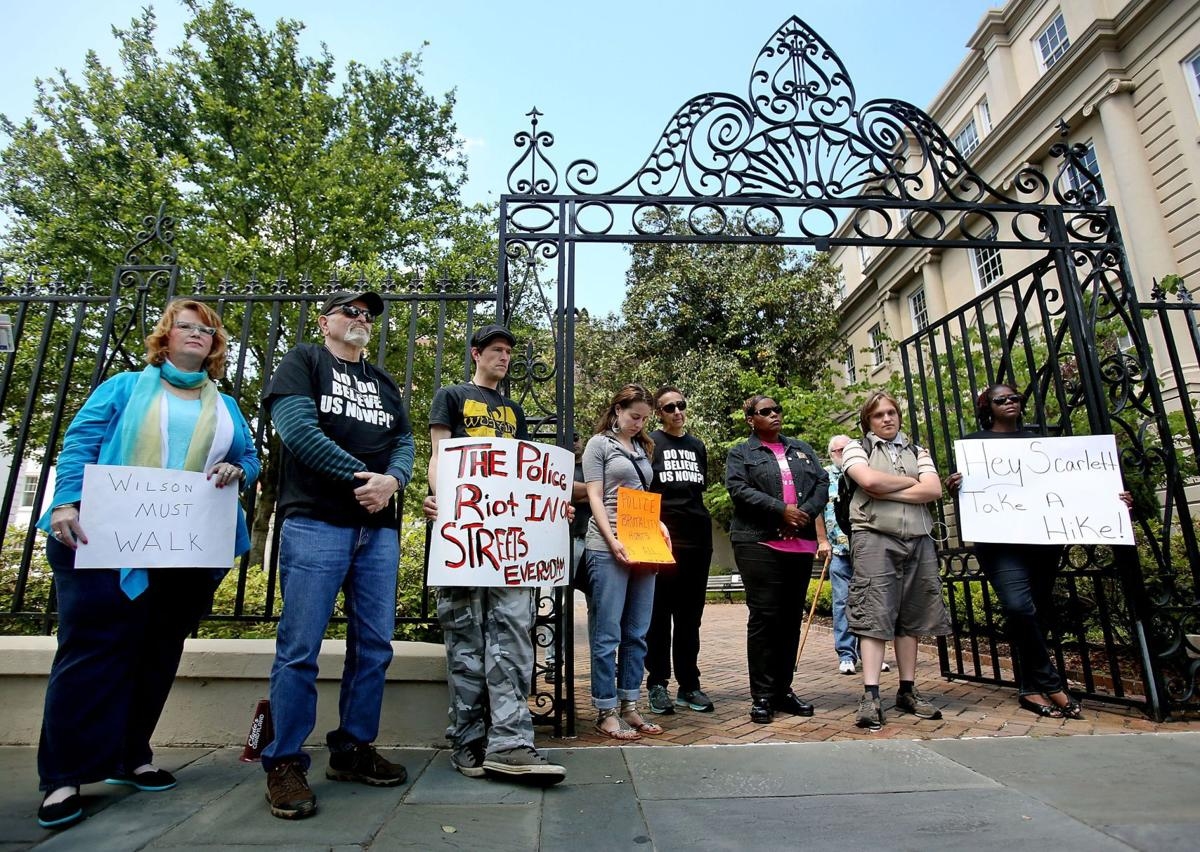 Protesters vow to keep rallying until Solicitor Scarlett Wilson recuses herself from Scott case